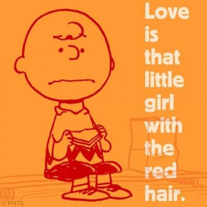 Charlie Brown. Little red haired girl.