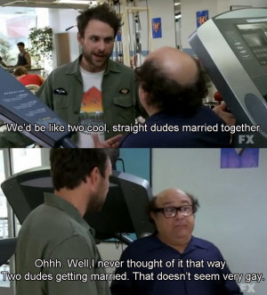 & Frank Get Married As Two Straight Dudes On It's Always Sunny ...