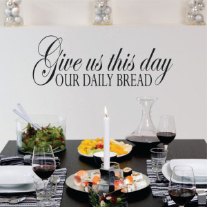 ... us This Day Our Daily Bread Prayer | Wall Decal Quote | Vinyl Wall Art