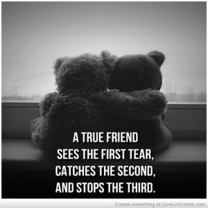 ... friendship, love, pretty, quote, quotes, see, stop, tears, teddy bears
