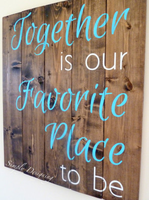 DIY Pallet-Style Wood Sign {Using Vinyl As a Stencil}
