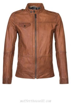 Hugo Boss Brown Leather Jacket