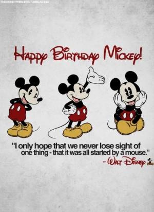 Happy Birthday, Mickey Mouse!