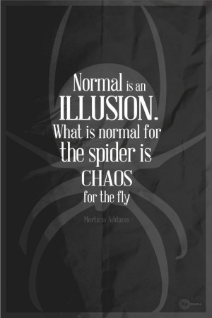 ... the spider is chaos for the fly