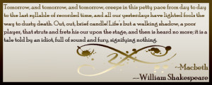 Shakespeare - Macbeth Quote I by xBloodRedRainx