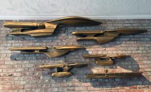 Star Trek Titanium or Micro Machine sized ships