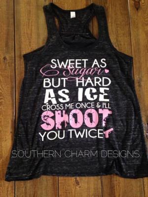 Sweet as Sugar Hard as Ice Flowy Racerback Tank - Thumbnail 1