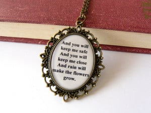 Les Miserables necklace. Quote jewelry. Eponine A Little Fall of Rain ...
