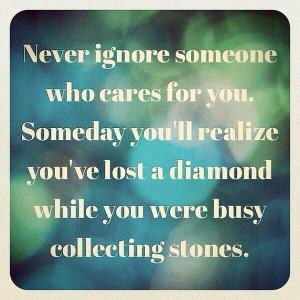 Never ignore someone ....