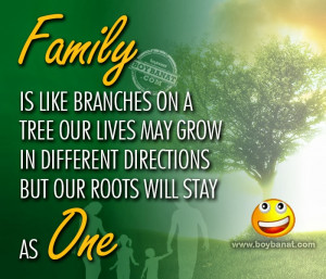 Happy Family Quotes Tagalog Family is like branches on a