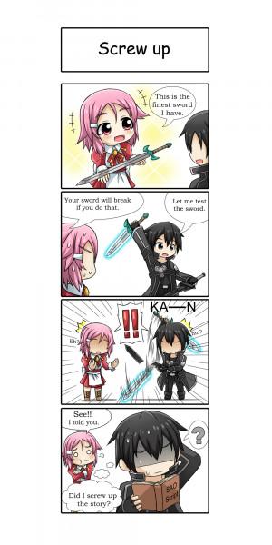 ... eyes pink_hair puffy_sleeves short_hair sword sword_art_online weapon