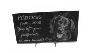 The process for creating headstones for pets, or pet memorials works ...