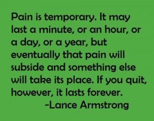 Lance Armstrong Quotes Sayings On Pain Inspirational