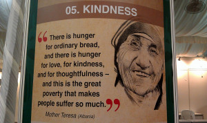 There is hunger for ordinary bread, and there is hunger for love, for ...