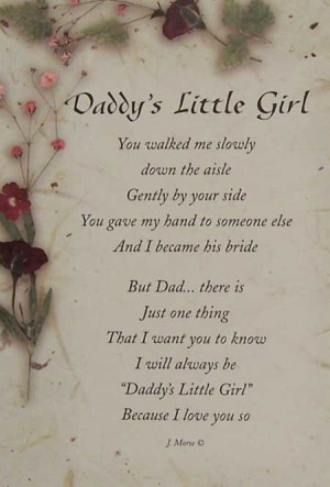 DADDYS LITTLE GIRL FRAMES FOR WEDIDNGS | DADDY'S LITTLE GIRL - 5001036 ...