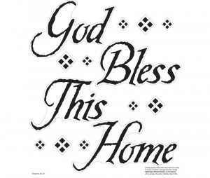 Home Deco Wall Decals God Bless This Home Wall Decals