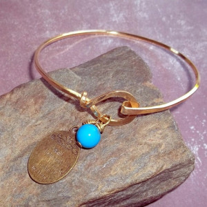 Well Behaved Women Quote Charm Bracelet Brass Bangle by earthegy, $26 ...