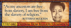 ... Are Free From Slavery, I Am Free From The Slavery Of religion