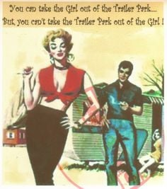 can take the Girl Out of the Trailer Park Vintage Pinup Womens Funny ...