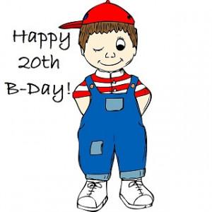 happy 20th bday card, kid