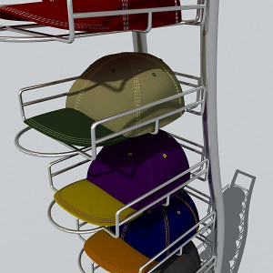hat rack 3d 3ds - hat rack... by DigitalX