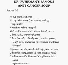 dr fuhrman s famous anti cancer soup excerpt from fuhrman joel eat to ...