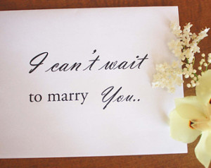 Can't Wait To Marry You- Wedd ing Card, Bride and Groom Card ...