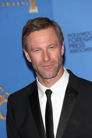 Aaron Eckhart 71st Annual Golden Globe Awards