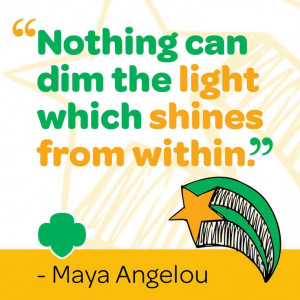 nothing can dim the light which shines from within maya angelou