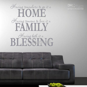 Home Family Blessing Wall Quote Decal Decor Sticker Lettering Saying ...
