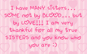 Not Sisters by Blood Quote