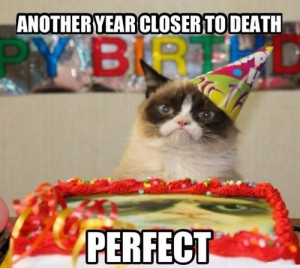 Another year closer to death - Perfect - Grumpy Cat