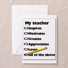 Teacher Appreciation Gifts Greeting Cards (Package for