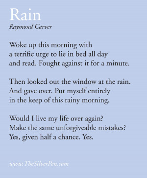Rainy Day by Raymond Carver