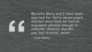 Jack Benny on Divorce