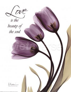 Blackberry Tulips, Love by Albert Koetsier art print