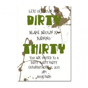 Another seriously dirty (and Lovely!) Men's Dirty Thirty Birthday ...