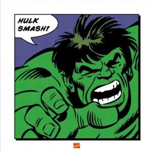 marvel comic book art print incredible hulk smash poster