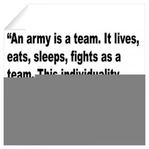 Cafepress Wall Art Decals Patton Army Team Quote Decal