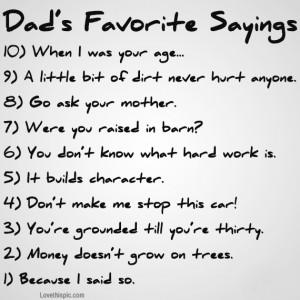 dads favorite sayings