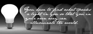 Find Your Light Quote Facebook Cover Photo