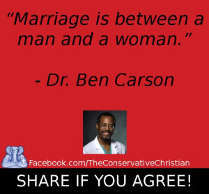 Marriage: Between a man and woman - Dr. Ben Carson