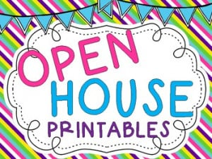 Open House Printables {Freebie}