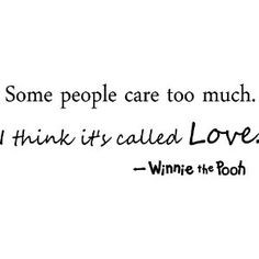 ... it's called love winnie the pooh cute wall quotes art wall sayings