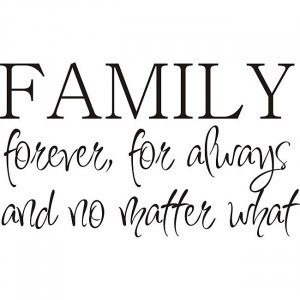 Personalize your living space with this family forever vinyl wall art ...