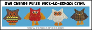 Owl Craft - Owl Lunch Money Change Purse Back-to-school Craft from www ...