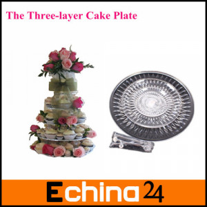 Silver-3-Tiers-Cake-Stand-Plate-For-Tea-Shop-Room-Hotel-Weding-Party ...