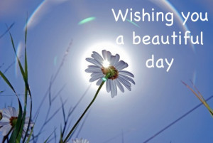 Wishing you a beautiful day glitter