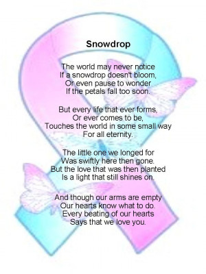LLM Calling: Poems for Babyloss Services: snowdrop