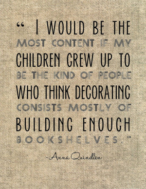 Anna Quindlen literary quote typography print. Book lovers teachers ...